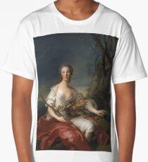 Jean-Marc Nattier - Portrait Of Madame Bouret As Diana Long T-Shirt