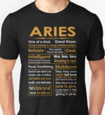 Funny Aries Zodiac Sign Shirt Unisex T-Shirt