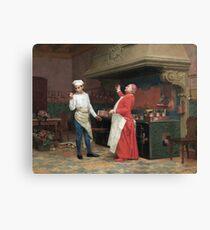 Jehan Georges Vibert - The Marvelous Sauce Canvas Print