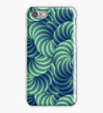 Blue and Green Trippy Abstract Psychedelic 3D Effect Fractal 04 iPhone Case/Skin