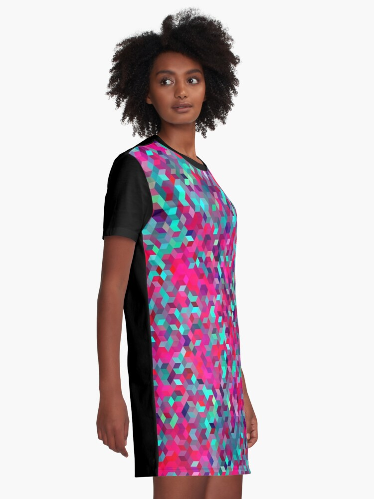 Alternate view of Roses Graphic T-Shirt Dress