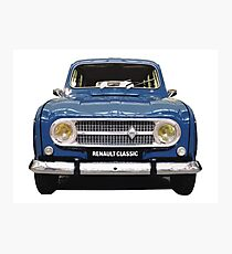 Renault 4 - Front View Photographic Print