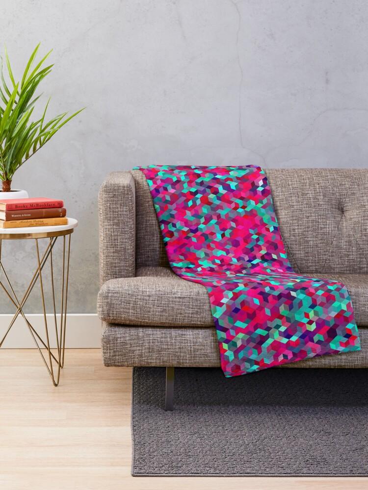 Alternate view of Roses Throw Blanket