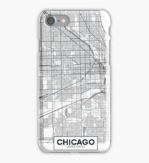 Vector poster map city Chicago iPhone Case/Skin