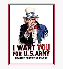 "Uncle Sam ""I Want You""  Photographic Print"