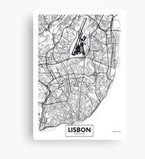 Vector poster map city Lisbon Canvas Print