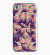 Blue and Purple Trippy Abstract Psychedelic 3D Effect Fractal 06 iPhone Case/Skin