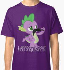Spike's Moustache Question (UK Version) Classic T-Shirt