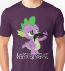 Spike's Moustache Question (UK Version) T-Shirt
