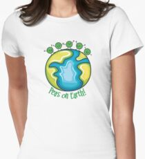 Peas on Earth Womens Fitted T-Shirt