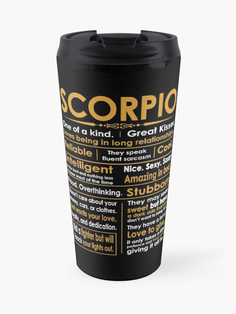 Funny Scorpio Zodiac Sign Shirt | Travel Mug