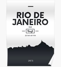 Poster city skyline Rio de Janeiro Poster