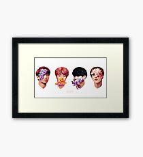 ❀ Flowers + Hyung Line ❀ Framed Print