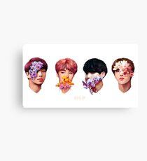 ❀ Flowers + Hyung Line ❀ Canvas Print