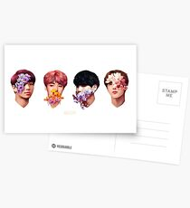 ❀ Flowers + Hyung Line ❀ Postcards