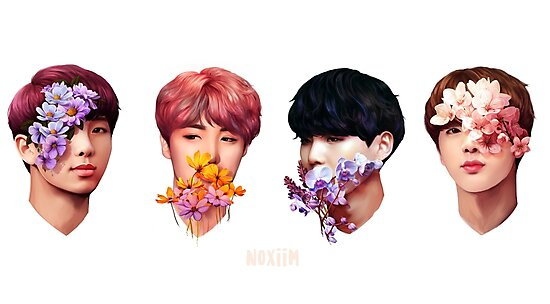 ❀ Flowers + Hyung Line ❀ by karyndraws