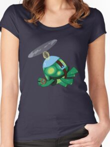 Tank: The Tortoise (Helicopter) Women's Fitted Scoop T-Shirt