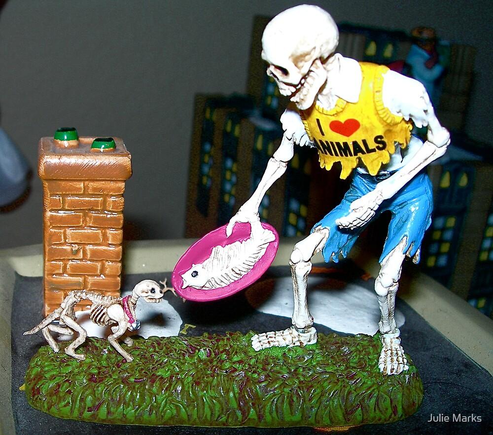 Bones feeding Bones by Julie Marks