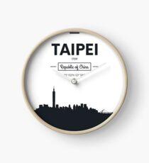 Poster city skyline Taipei Clock