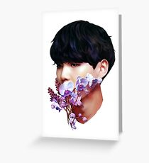 Flowers + Yoongi Greeting Card