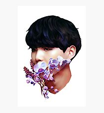 Flowers + Yoongi Photographic Print
