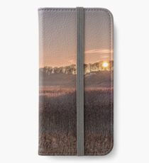 """""""Sunrise over Cley Marshes"""" iPhone Wallet"""