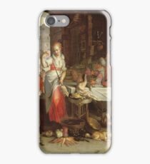 Joachim Wtewael - Kitchen Scene With The Parable Of The Feast iPhone Case/Skin