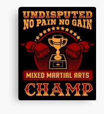 Mixed Martial Arts Champion Canvas Print