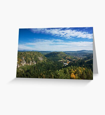 View from Střmen Greeting Card