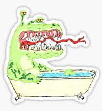 A Dragon in a Bathtub Sticker