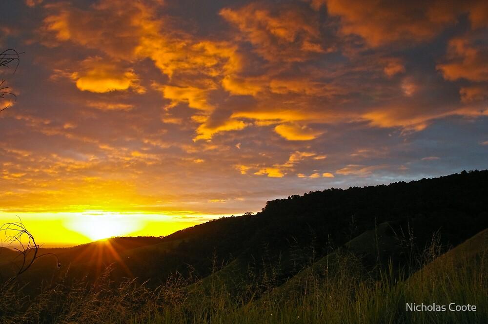 Bunya Sunset by Nicholas Coote