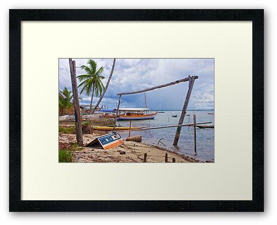Boatyard at Cajaiba, Bahia, Brazil by Sue Frank