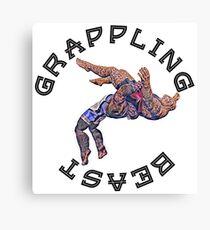 Grappling Beast  Canvas Print