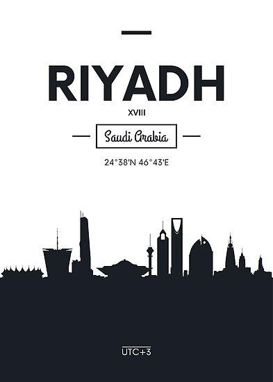 Poster city skyline Riyadh by maximgertsen