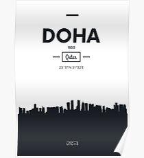 Poster city skyline Doha Poster