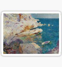 Joaquin Sorolla Y Bastida - Rocks At Javea. The White Boat1905 Sticker