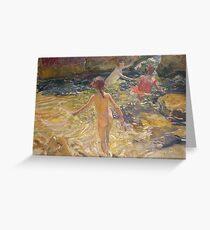 Joaquin Sorolla Y Bastida - The Bath, Javea Greeting Card