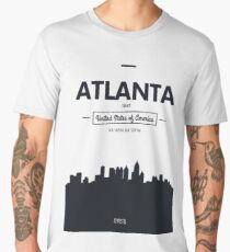 Poster city skyline Atlanta Men's Premium T-Shirt