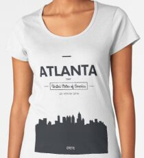 Poster city skyline Atlanta Women's Premium T-Shirt
