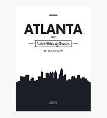 Poster city skyline Atlanta Photographic Print