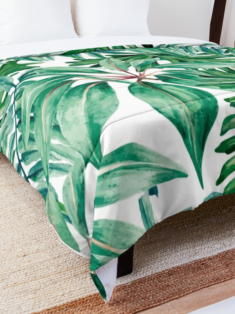 Alternate view of Tropical jungle Comforter