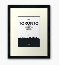 Poster city skyline Toronto Framed Print