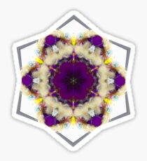 Purple and cream floral fractal Sticker