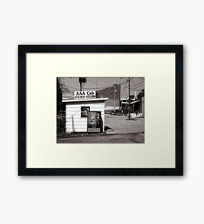 AAA Cab Framed Print