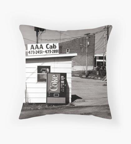 AAA Cab Throw Pillow