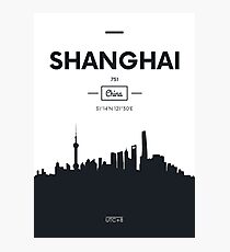 Poster city skyline Shanghai Photographic Print