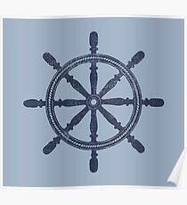 Nautical Wheel Poster