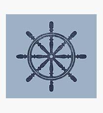 Nautical Wheel Photographic Print