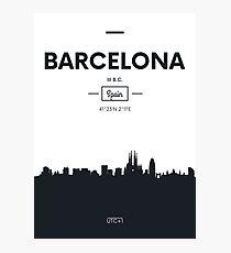 Poster city skyline Barcelona Photographic Print
