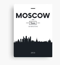 Poster city skyline Moscow Canvas Print